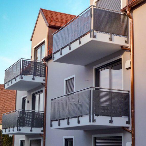 Balkon als Sichtschutz