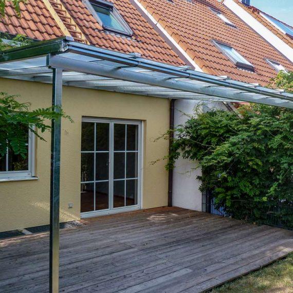 Terrassendach Verzinkt, Glas matt